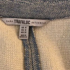 ZARA Trafaluc Marled Knit Duster Topcoat
